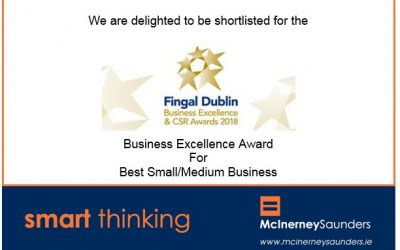 Delight at being shortlisted for Best Small/Medium Business